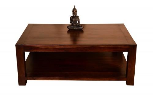 Victoria Bottom Shelf Walnut Finish Coffee Table