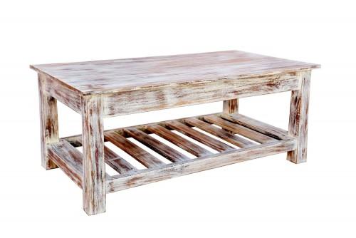 Dyson striped bottom shelf coffee table