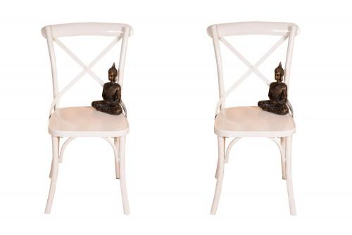 Pair of Zippy metal white chair