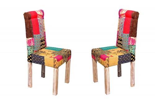 Pair of Garniture patch work chair