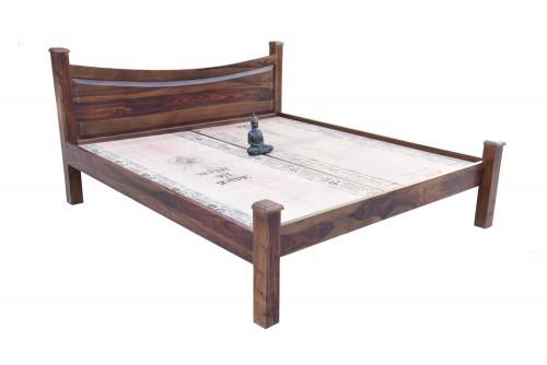 Palilngo teak finish bed