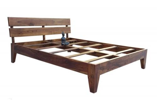 Lightro teak finish bed