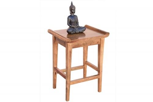 Trevy teak finish stool