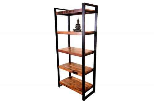 Reclaimed industrial book shelf