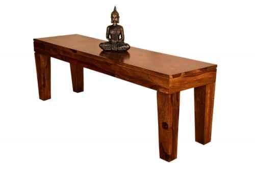 Lay teak finish bench