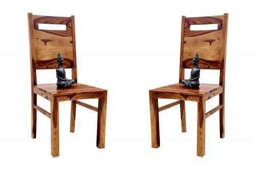 Pair of Glaring sheesham wood chair
