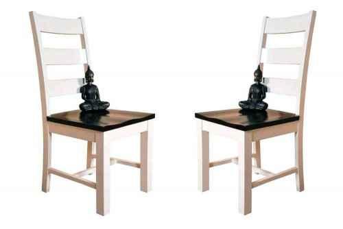 Pair of Glaring white finish wood chair
